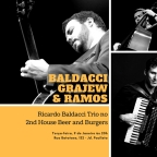 2nd House Beer and Burgers terá Ricardo Baldacci, Daniel Grajew e Ricardo Ramos nesta 3a. feira